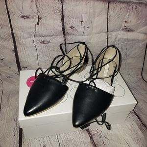 Boden Lace Up Pointed Toe Flats